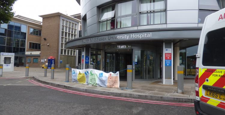 Photo of the North Middlesex Hospital entrance