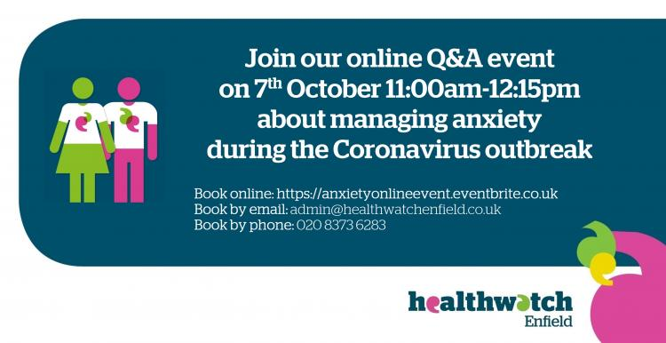 anxiety online event image 7th October 2020