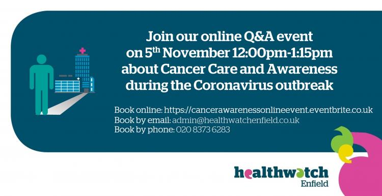 Join our cancer care and awareness online question and answer event