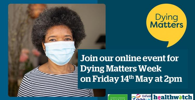 Dying Matters week poster 14th May 2pm