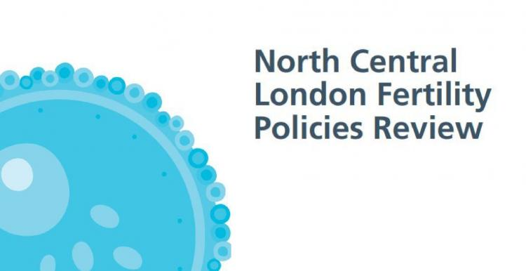 Text saying North Central London Fertility Policies Review