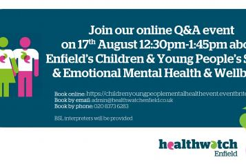 Children and young people online event graphic